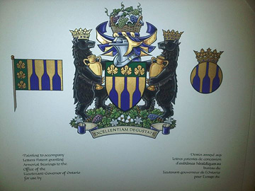 Lieutenant Governor's Award for Excellence in Ontario Wines coat of arms