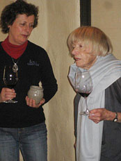 Mondavi's head winemaker Genevieve Janssens with Margrit Mondavi
