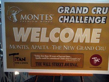 Grand Cru Challenge sign