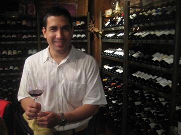 Rodrigo Valdes in Azafran's cellar