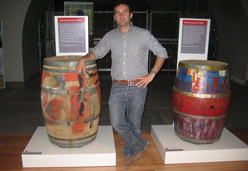 Julio Viola with painted barrels