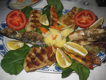 My mixed fish dinner in Istanbul