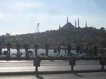 Fishing off the Galata Bridge, Istanbul