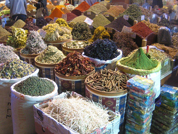 A spice market in Harput