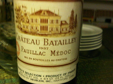 Château Batailley 1937