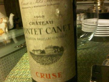 Château Pontet-Canet 1959