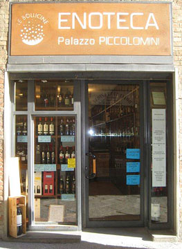 Wine store in Siena off Piazza del Campo