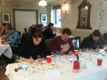 Judging at the Ontario Wine Awards