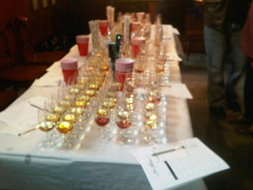 Sweet wines tasting for Ontario Wine Awards