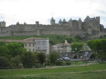 The walled town of Carcassonne