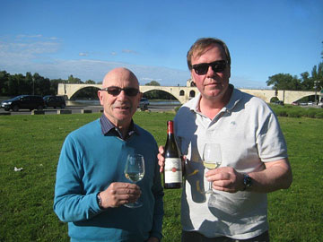 Tony and Harald Thiel celebrate World Chardonnay Day (May 23) in Avignon with Hidden Bench