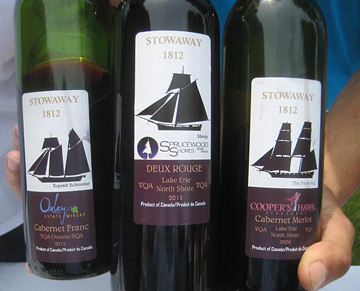 Labels from the Stowaway 1812 series