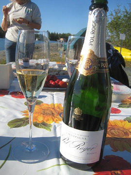 Champagne breakfast in Yellowknife
