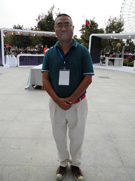 Jason Tang at the Gansu Wine Festival