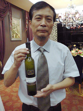 Mr. Liu with Icewine