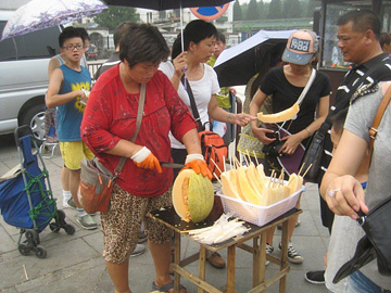 Another street cooler option: melon