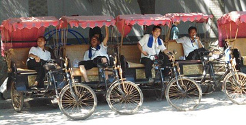 Beijing's bicycle rickshaws