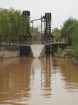 Waterwheels on the Yellow River, Lanzhou