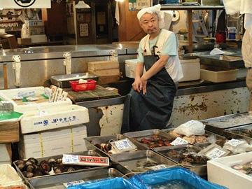 Market fishmonger