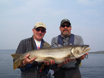My 25 lb lake trout with guide John