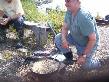 Steve cooking dirty rice