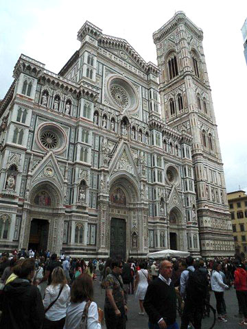 Façade of the Duomo in Florence