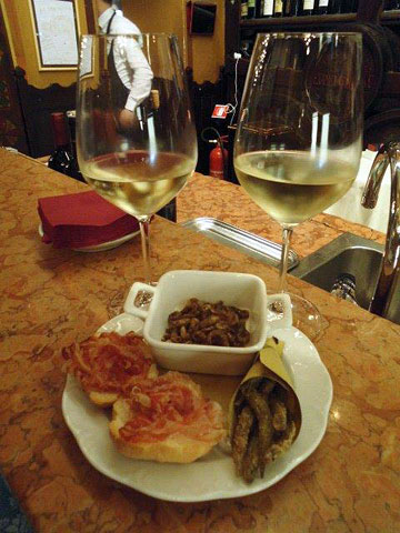 Snack at Bottega del Vino