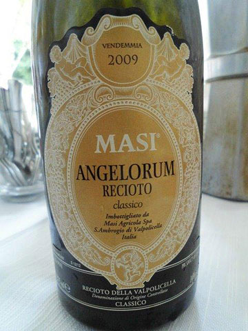 Masi's dessert wine at lunch