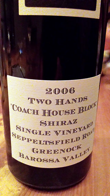 Two Hands Coach House Block Shiraz 2006