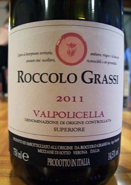 Roccolo Grassi Valpolicella Superiore  2011