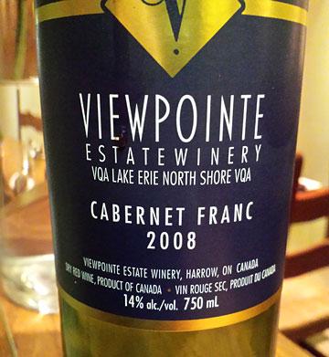 Viewpoointe Cabernet Franc 2008