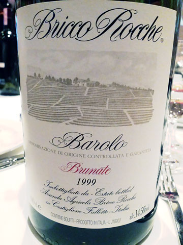 Ceretto Bricco Roche Barolo  Brunante 1999