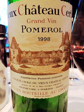 Vieux Chateau Certan 1998