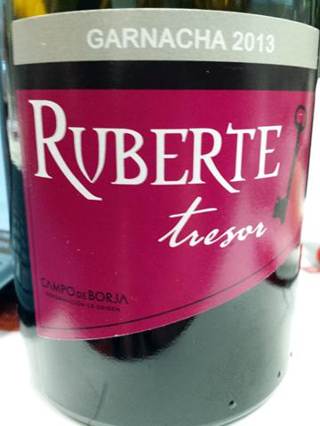 Bodegas Ruberte Tresor Garnacha 2013
