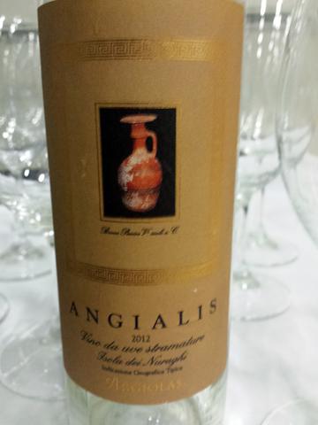 Argiolas 'Angialis' Isola del Nuraghi vino da uve stramature 2012