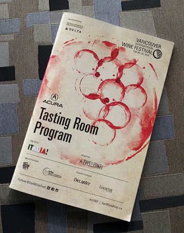 Vancouver International Wine Festival Acura Tasting Room Program