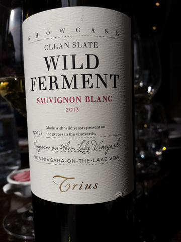 Trius Showcase Wild Ferment Clean Slate Sauvignon Blanc 2013