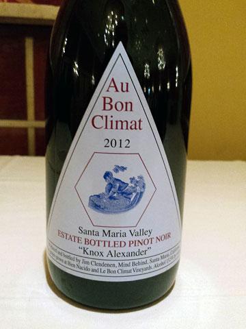 "Au Bon Climat ""Alexander Knox"" Pinot Noir 2012"