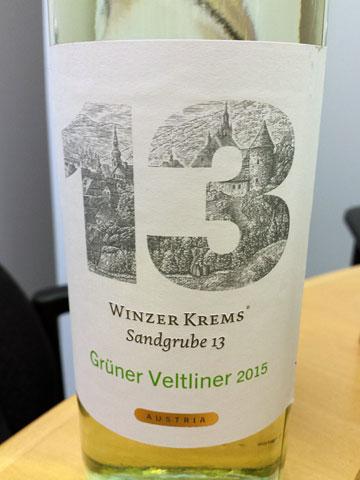 Winzer Krems Sandrgube 13 Grüner Veltliner 2015