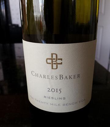 Charles Baker Riesling 2015