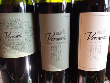 Versado Reserva Malbec 2012, Versado Old Vine Malbec 2012, Versado Malbec 2013