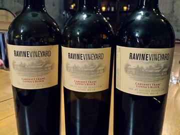 Ravine Vineyard Lonna's Block Cabernet Franc 2012, 2013, 2014