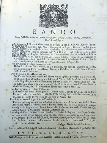 a foxed old document with a lengthy text in Italian which I will not transcribe