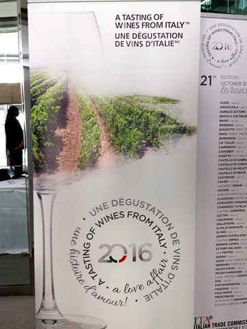 banner: A TASTING OF WINES FROM ITALY