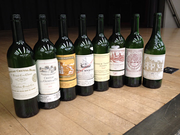 the Bordeaux tasting wines