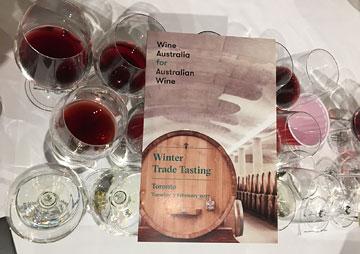 Wine Australia for Australian Wine Winter Trade Tasting brochure on tasting glasses