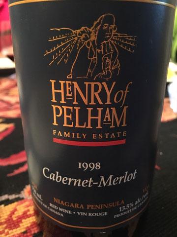 Henry of Pelham Cabernet Merlot 1998
