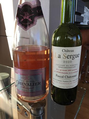 Chevalier Monopole Brut Rosé, Château La Sergue 2000