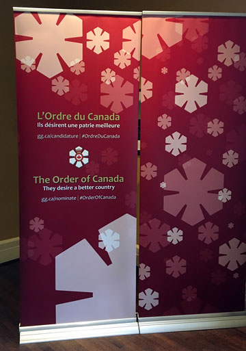 standing banner: The Order of Canada: They desire a better country