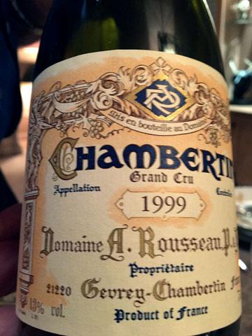Domaine Rousseau Gevrey-Chambertin 1999